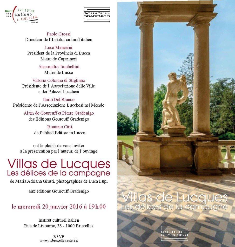 """Presentazione del libro """"Ville lucchesi. Le delizie della campagna"""" a Bruxelles"""