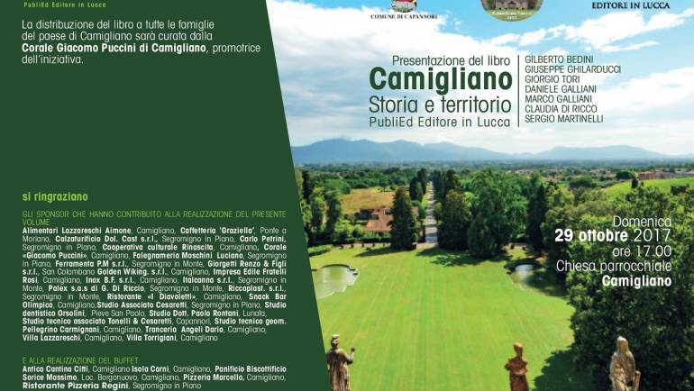 """Domenica 29 ottobre presentazione del libro edito da PubliEd: """"Camigliano – Storia e territorio"""""""