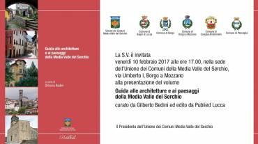 """Venerdì 10 febbraio presentazione della """"Guida alle architetture e ai paesaggi della Media Valle del Serchio""""."""